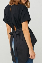 Hayden Los Angeles Open-Back Top, Black - Product Mini Image