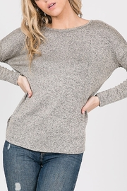 Cozy Casual  Open Back Twist Top - Front full body
