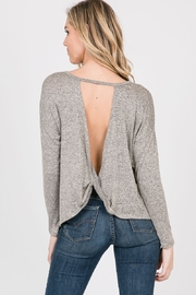 Cozy Casual  Open Back Twist Top - Front cropped