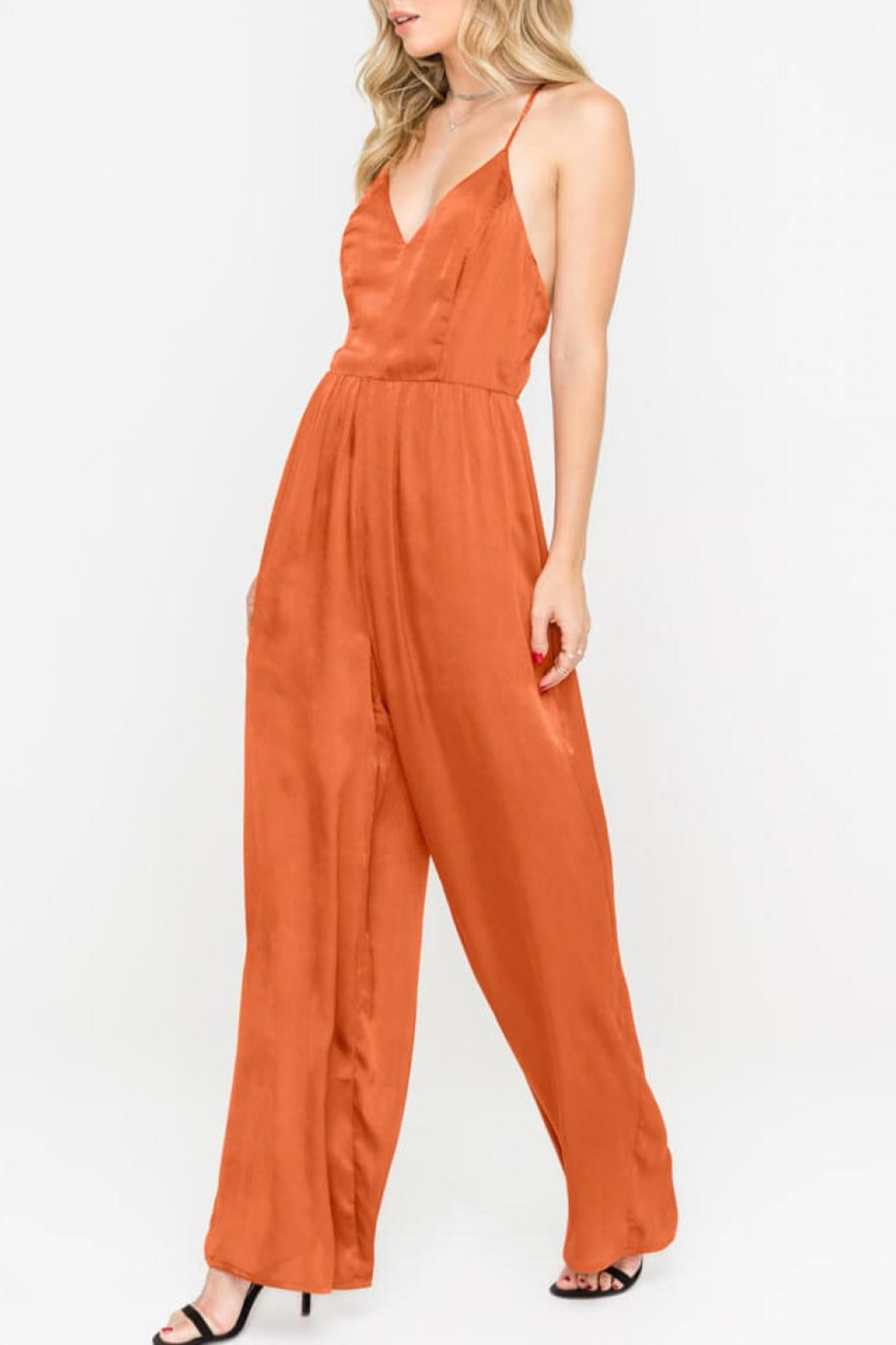 7e2fed0daf Lush Open-Back Wide-Leg Jumpsuit from Virginia by mod soul — Shoptiques