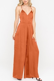 Lush Open-Back Wide-Leg Jumpsuit - Other