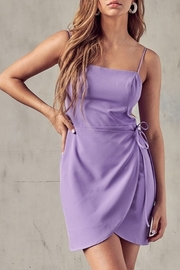 blue blush Open Back Wrap Dress - Product Mini Image