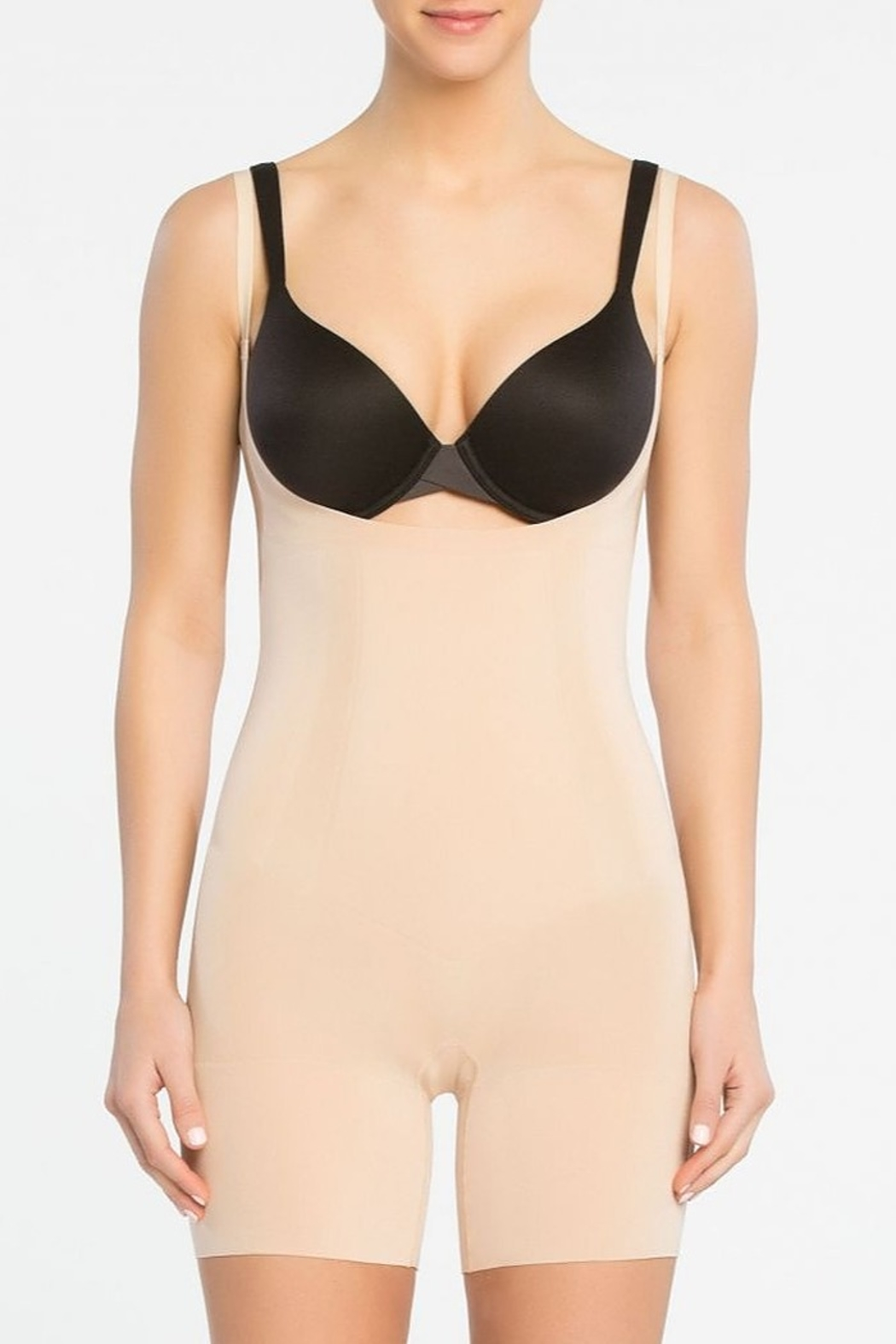 Spanx Open Bust Mid-Thigh Bodysuit - Main Image