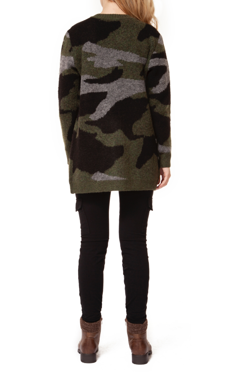 Dex Open Camo Cardigan - Front Full Image