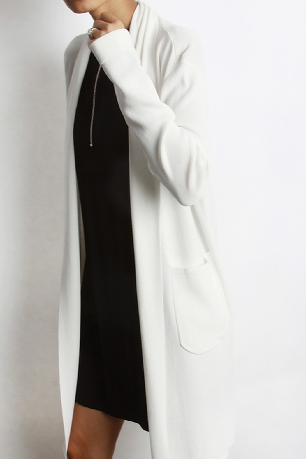 Mod Ref Open Cardigan - Side Cropped Image