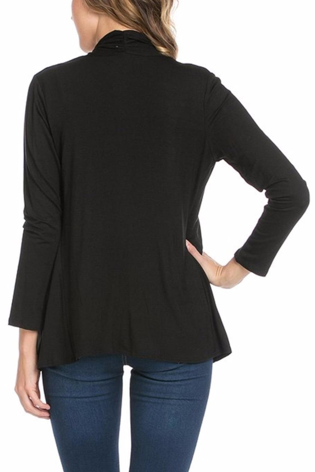 Azules Open Cardigan - Side Cropped Image