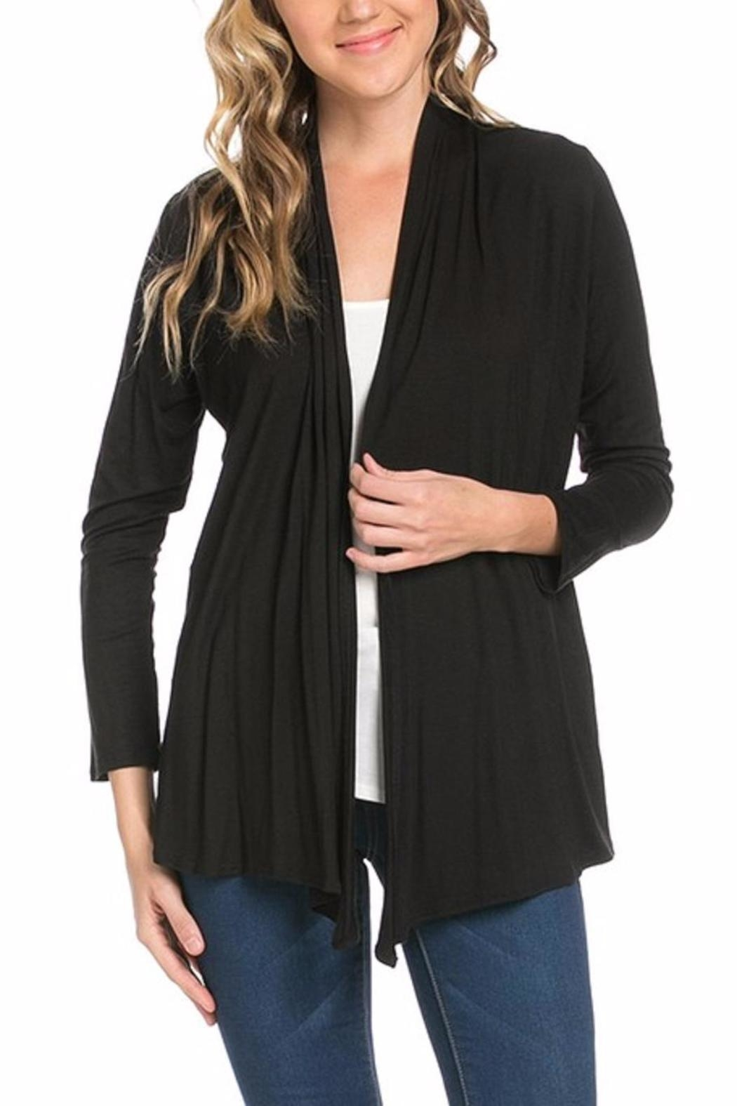 Azules Open Cardigan - Front Cropped Image