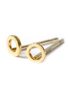 Adorn512 open circle stud earrings - Alternate List Image