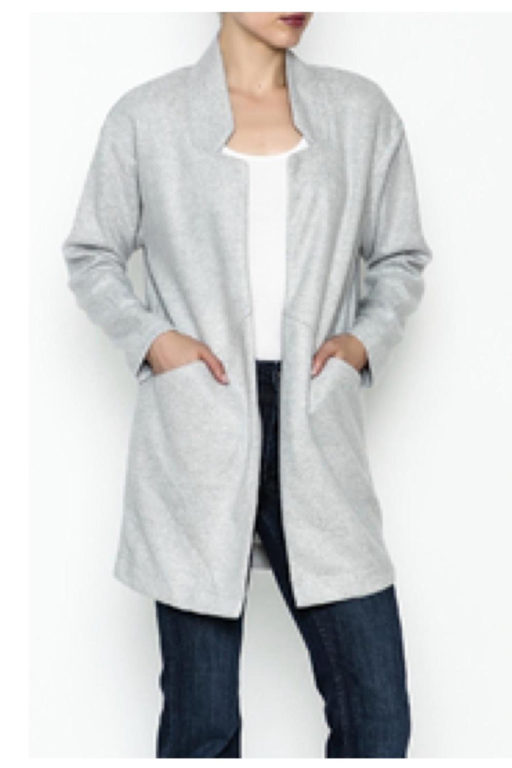 Jade Open Front Coat - Front Cropped Image
