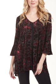Frank Lyman Open Front Floral Blouse - Product Mini Image