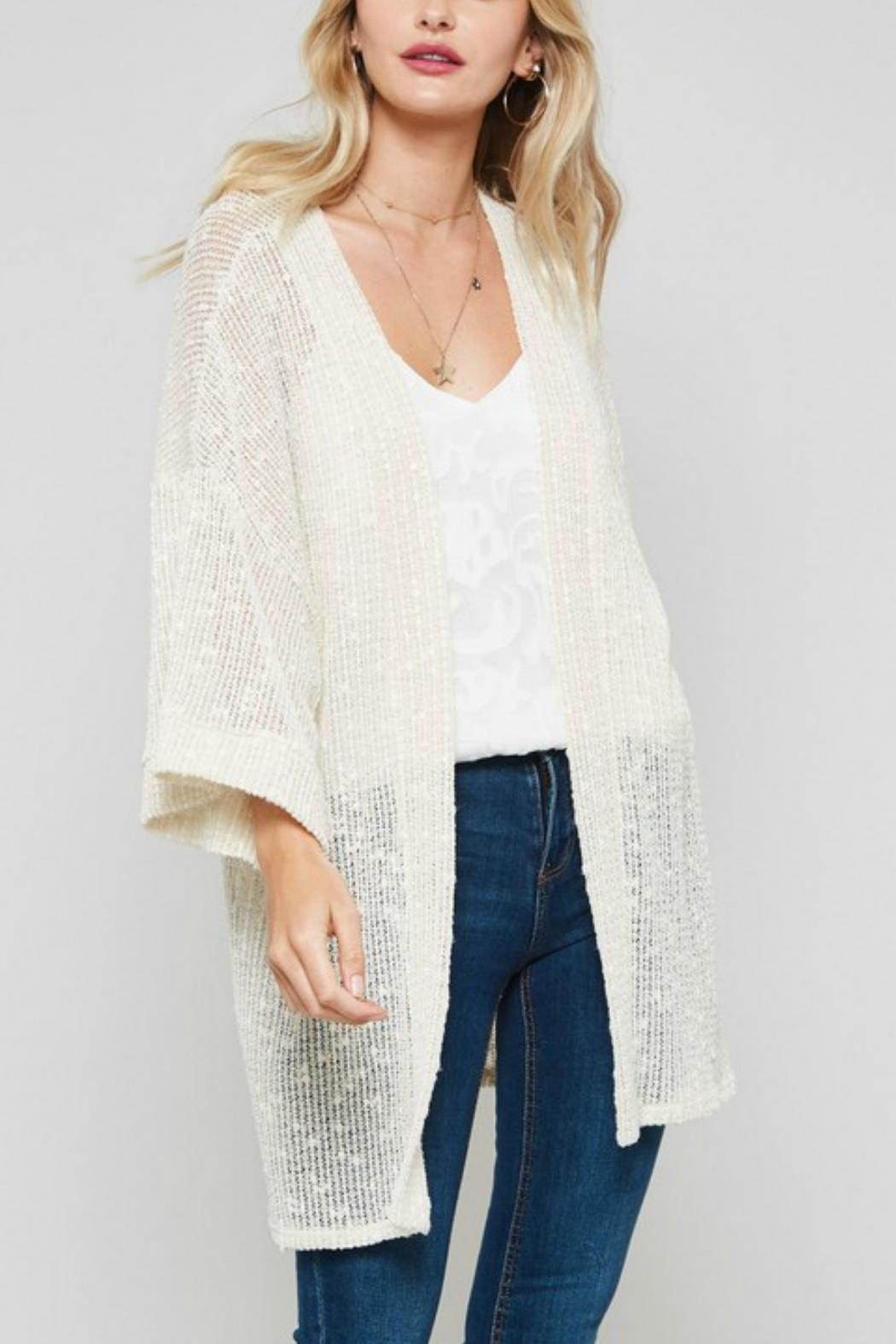 Promesa USA Open-Front Kimono Cardigan - Side Cropped Image