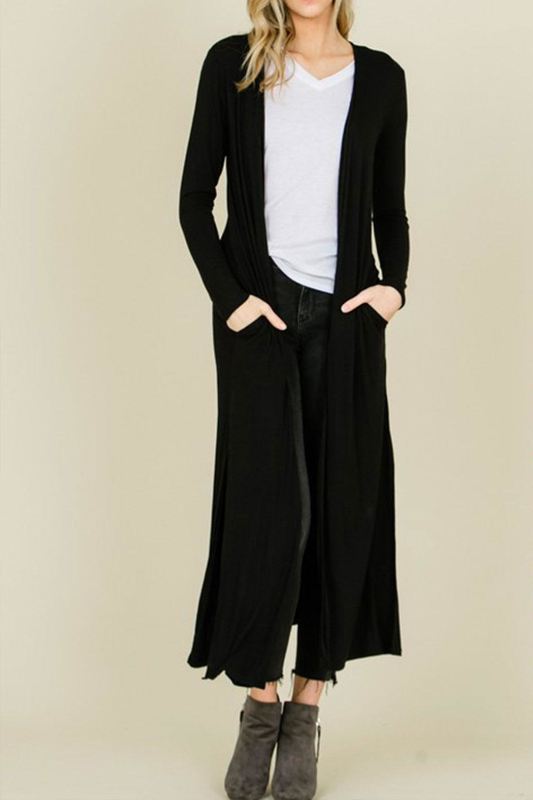 annabelle Open Front Maxi-Cardigan - Front Cropped Image