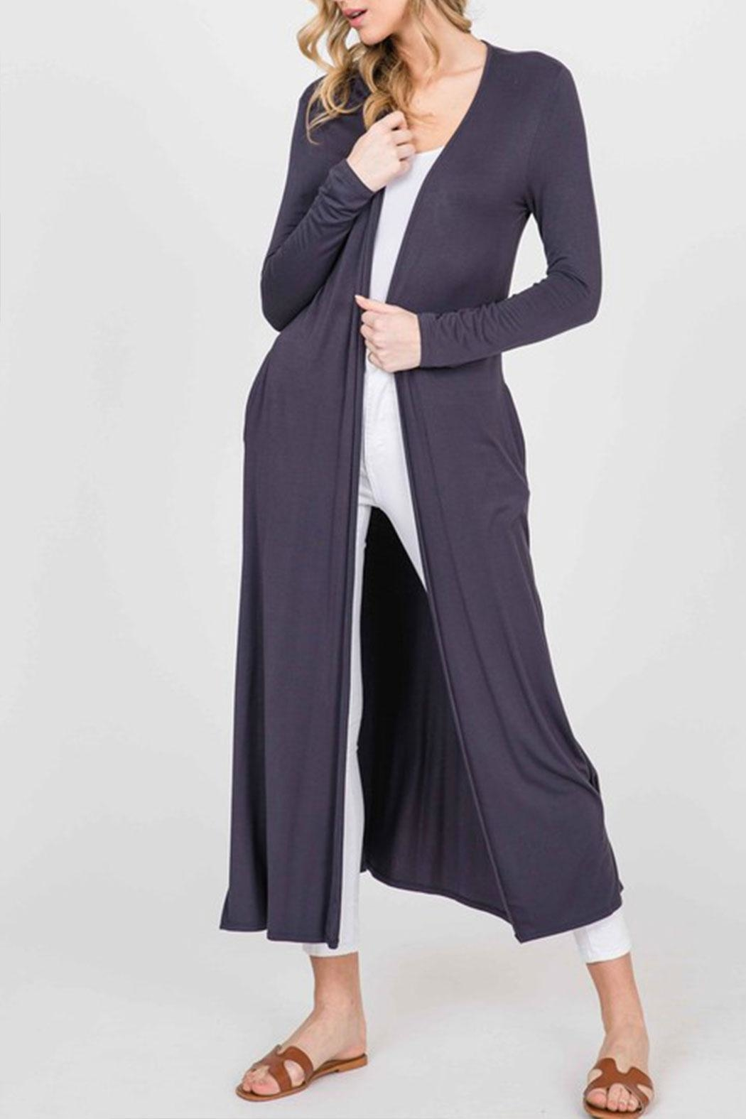 annabelle Open Front Maxi-Cardigan - Main Image