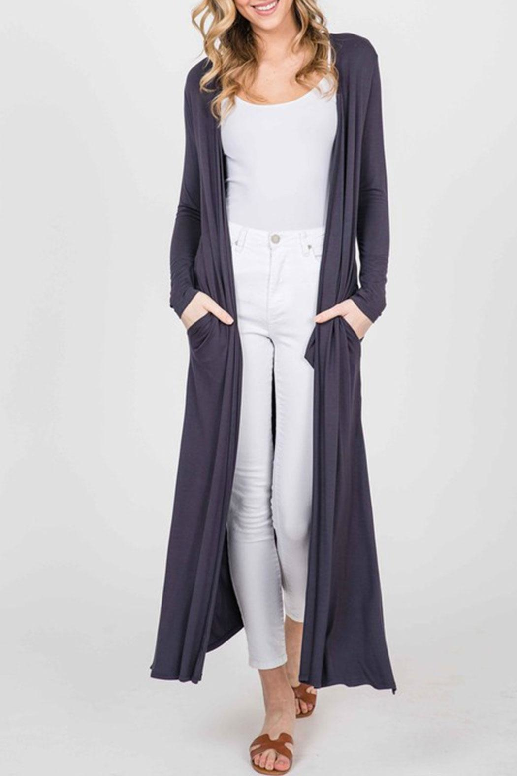 annabelle Open Front Maxi-Cardigan - Front Full Image