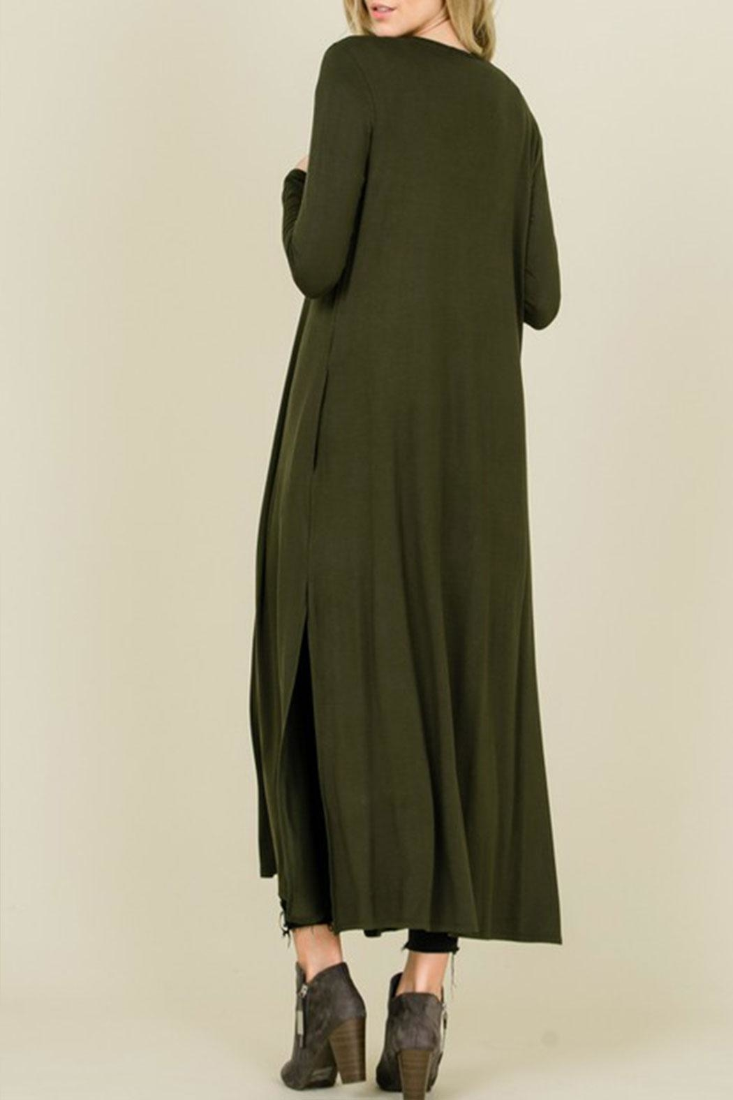annabelle Open Front Maxi-Cardigan - Side Cropped Image