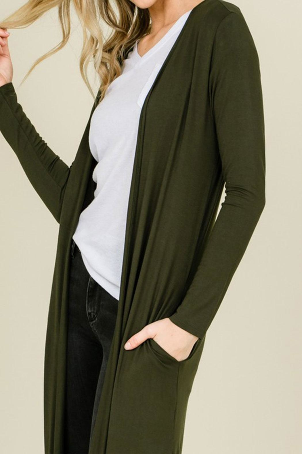 annabelle Open Front Maxi-Cardigan - Back Cropped Image
