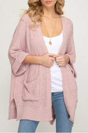 She & Sky  open front sweater - Product Mini Image