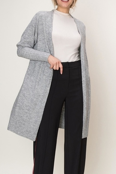 Shoptiques Product: Open Grey Cardigan