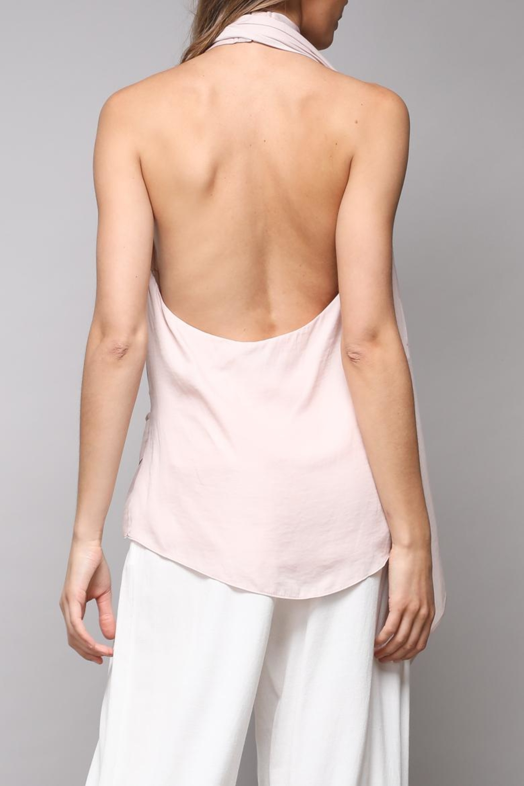 Do & Be Open Halter Top - Front Full Image