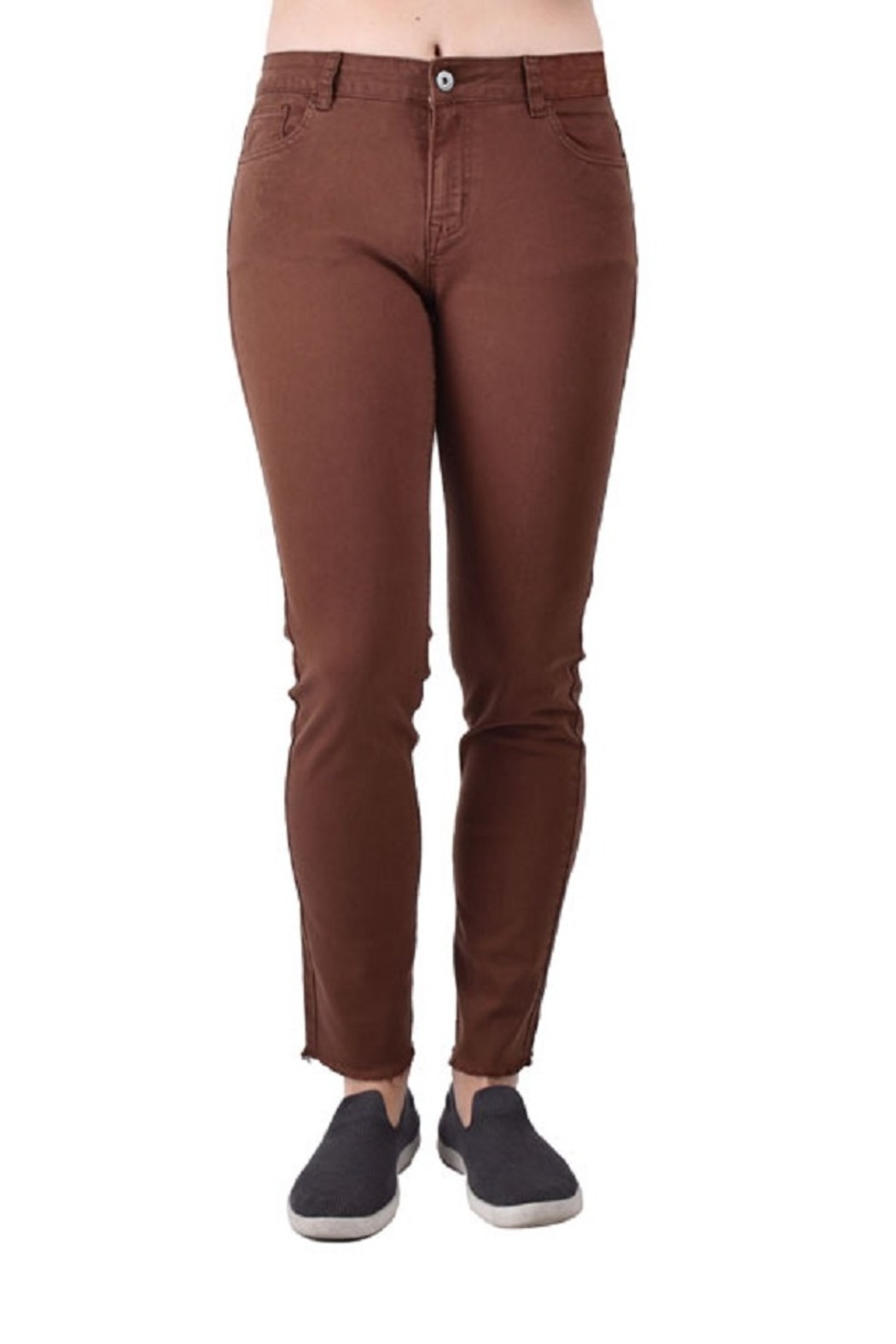 True Blue Clothing Open Hem Pant - Front Cropped Image