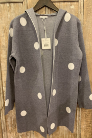 Sioni Open hooded cardigan - Front cropped