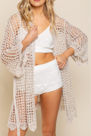 POL  Open knit cardigan - Front cropped