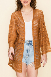 HYFVE OPEN KNIT CARDIGAN - Front cropped