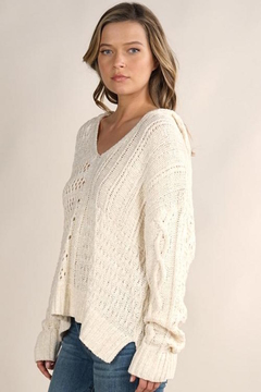 Shoptiques Product: Open knit hooded sweater