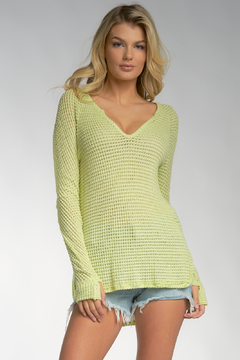 Shoptiques Product: Open Knit Long Sleeve Top