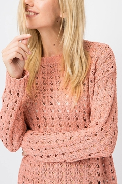 Cozy Casual Open Knit Pullover - Alternate List Image