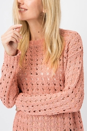 Cozy Casual Open Knit Pullover - Product Mini Image