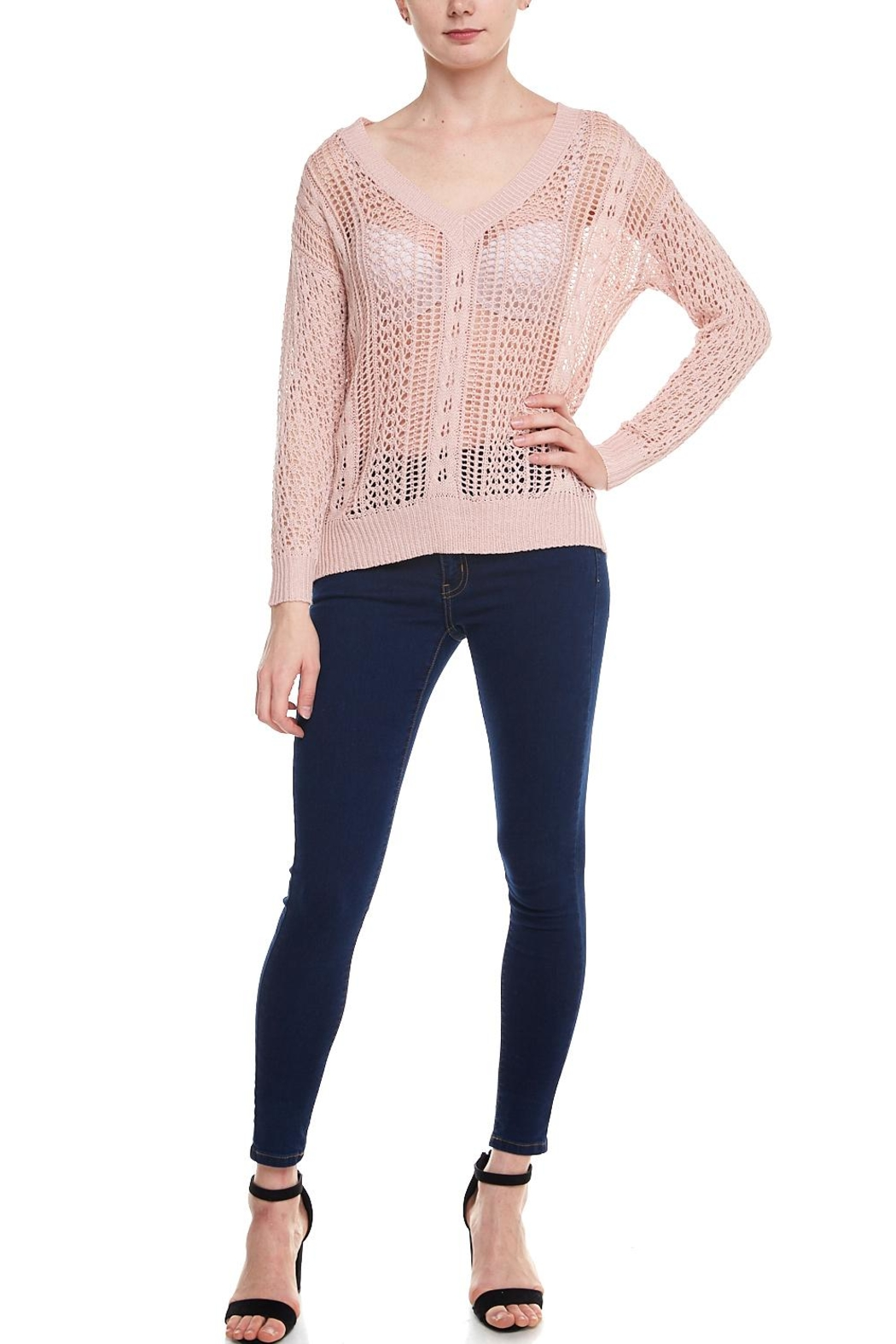 f1c6ac0aec Love Tree Open Knit Sweater from New York by Dor L Dor — Shoptiques