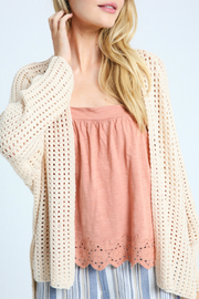 Wishlist Open Knit Sweater Cardigan - Product Mini Image