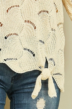 Entro Open-Knit Tie-Front Sweater - Alternate List Image