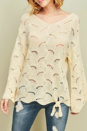 Entro Open-Knit Tie-Front Sweater - Product Mini Image