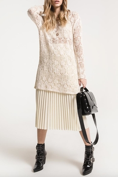 Shoptiques Product: Open-Knit Tunic Sweater