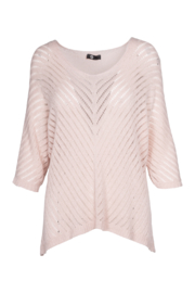 M made in Italy Open Knit V-Neck Sweater - Product Mini Image