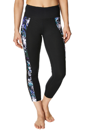 Betsey Johnson Open Knotted Floral Trim Legging - Product Mini Image