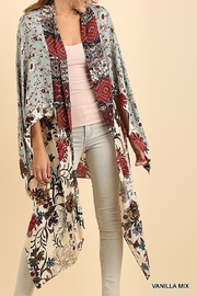 Umgee  Open Multicolor Long Body Kimono with a Floral Print Design - Product Mini Image