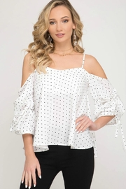 She + Sky Open-Shoulder Swing Top - Product Mini Image