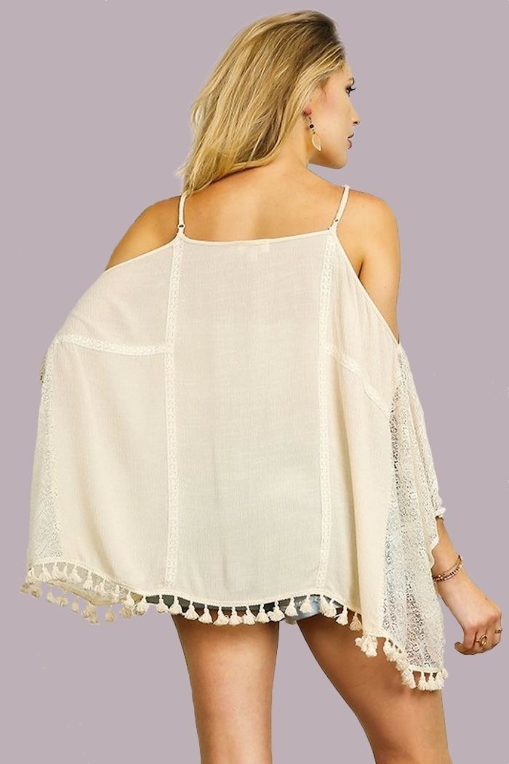 People Outfitter Open Shoulder Top - Side Cropped Image