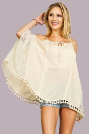 People Outfitter Open Shoulder Top - Front cropped
