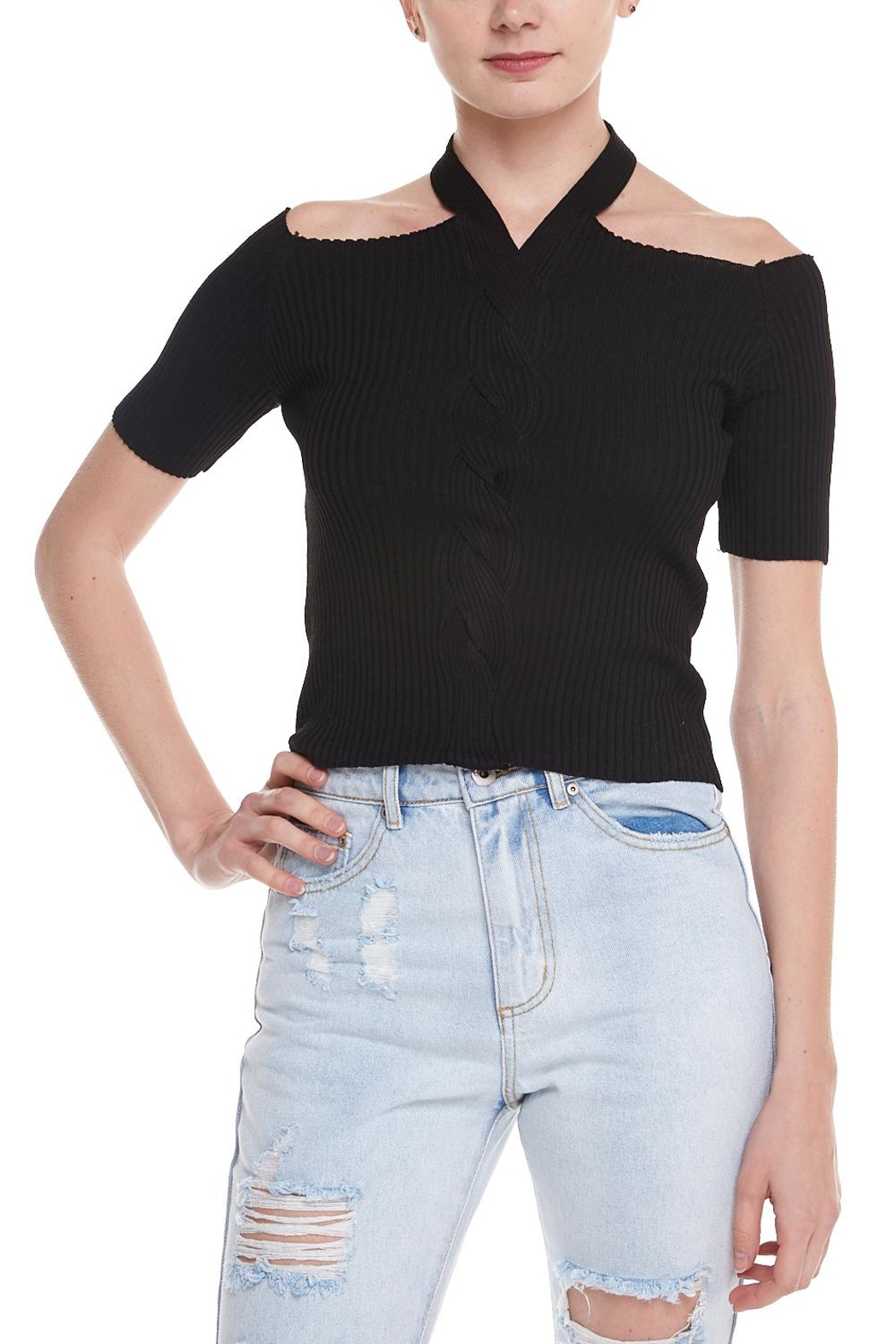 Alythea Open Shoulder Top - Front Cropped Image