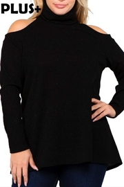 Janette Plus Open Shoulder Top - Product Mini Image