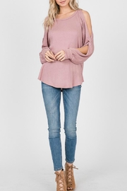 7th Ray Open Shoulder Top - Product Mini Image