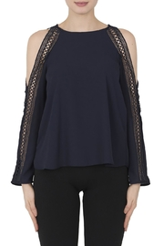 Joseph Ribkoff Open Shoulder Top - Product Mini Image