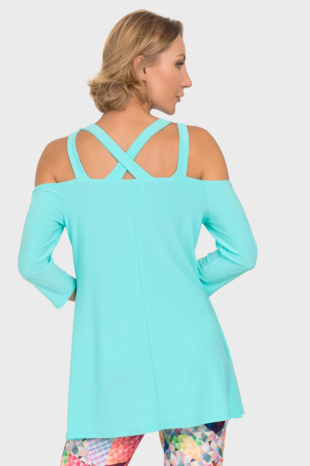 Joseph Ribkoff Open Shoulder Tunic - Side Cropped Image