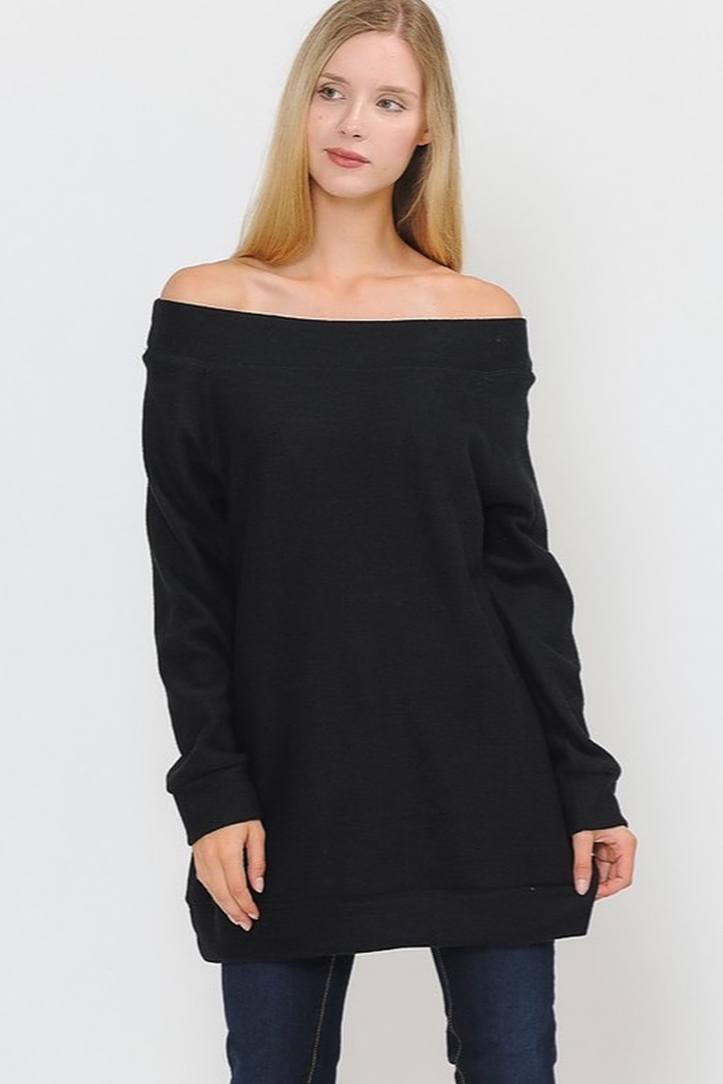Now N Forever Open Shoulder Tunic Top - Main Image