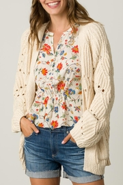 Margaret O'Leary Open Stitch Cardigan - Front full body