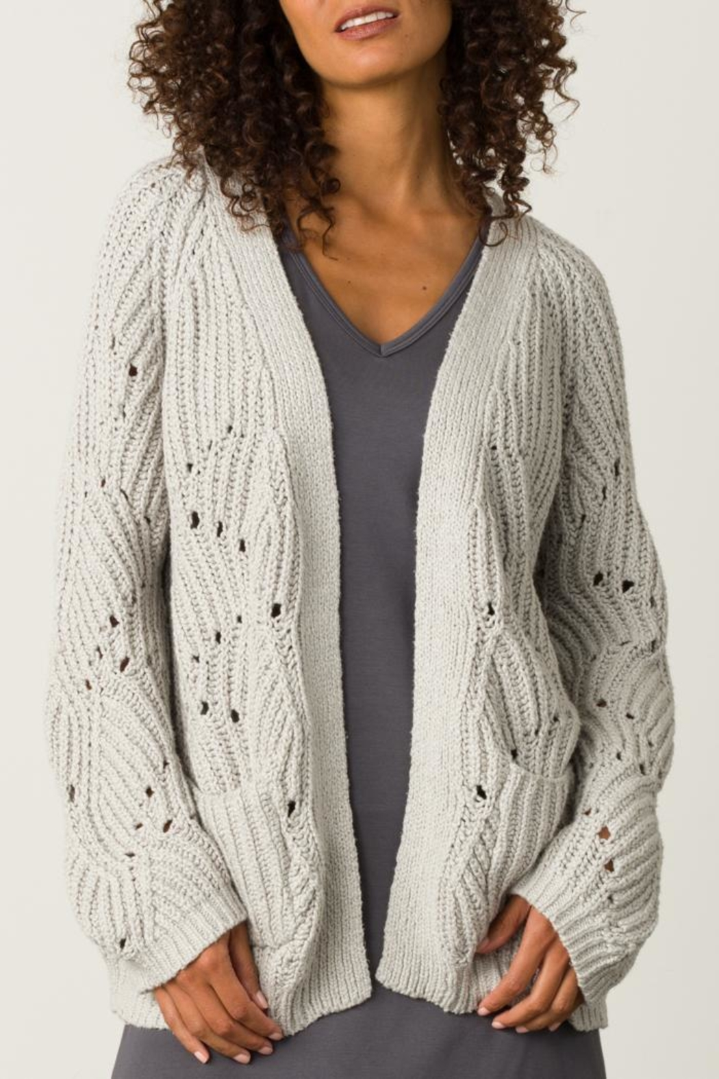 Margaret O'Leary Open Stitch Cardigan - Front Cropped Image